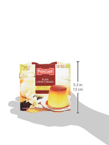 Pascual Flan Vainilla - Paquete de 4 x 100 gr - Total: 400 gr - [Pack de 6]: Amazon.es: Alimentación y bebidas