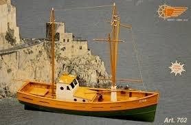 AMALFI MEDITERRANEAN FISHING BOAT WOODEN MODEL SHIP KIT 1:35 SUIT BEGINNER BUILDER