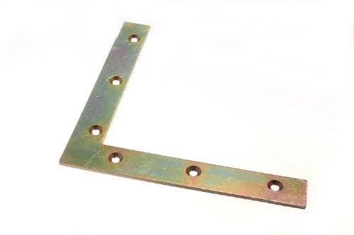 FLAT CORNER BRACE BRACKET 150MM X 22MM X 2.7MM 5MM HOLE YZP pack 4