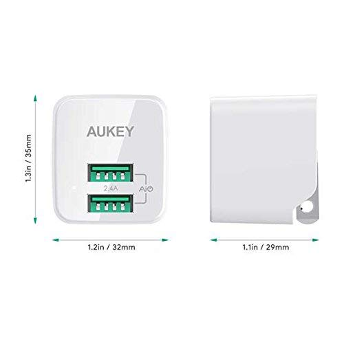 AUKEY USB Wall Charger, Ultra Compact Dual Port 2.4A Output & Foldable Plug, Compatible iPhone Xs/XS Max/XR, iPad Pro/Air 2 / Mini 4, Samsung, and More by AUKEY (Image #7)