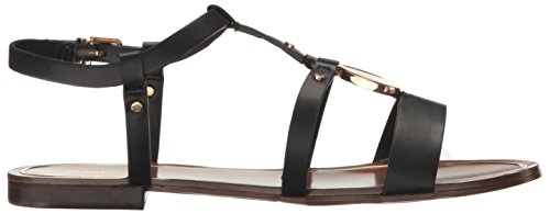 ALDO Black Evlyn Sandal Flat Sandal Synthetic ALDO Womens Black Synthetic Womens Flat Evlyn AqHnpWrxA