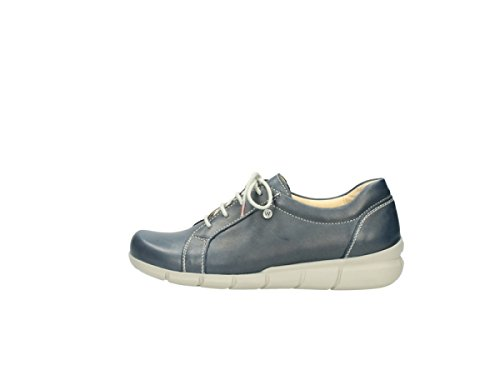 Leather Sneaker 80800 Blue Wolky Donna gIWwP