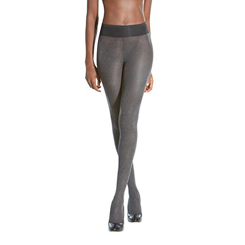 Opaque Nylon - Gold Toe Women's Sheer to Waist Semi Opaque Perfect Fit Tights, 1 Pair, Grey Heather, D