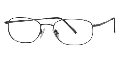 600 Eye (Flexon Flexon 600 Eyeglasses 033 Gunmetal Demo 52 18 140)