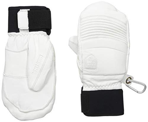 - Hestra Mens Ski Gloves: Fall Line Winter Cold Weather Leather Mittens, Off White, 9