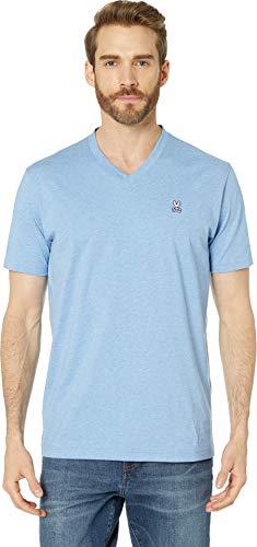 Psycho Bunny Men's Classic V-Neck T-Shirt Heather Bahamas Large ()