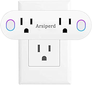 No Hub Required SANTAIN Smart Plug Wifi Outlet Compatible With Alexa Google Home and IFTTT Echo 15A Mini Smart Socket with Energy Monitoring and Timer Function