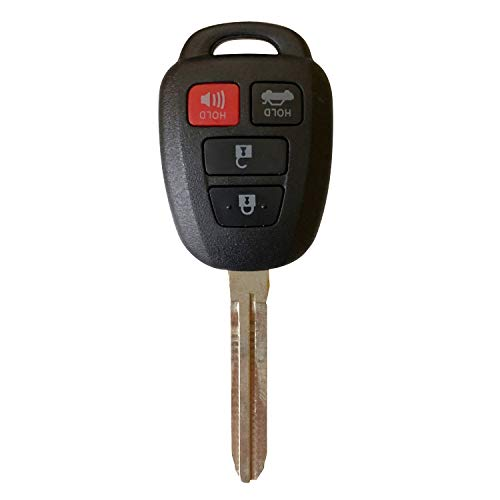 Replacement Key for 2014-2016 Toyota Camry Corolla Keyless Entry Remote Fob HYQ12BEL H Chip, New Uncut Blade; by AutoKeyMax
