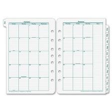 Franklin Covey 35400 Original Dated Monthly Planner Refill, January-december, 8 1/2 X 11, 2019