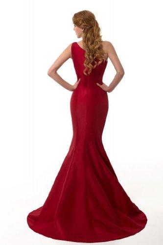 GEORGE DESIGN Brief Elegant Burgundy Mermaid One-Shoulder Evening Dress Size 6 Burgundy
