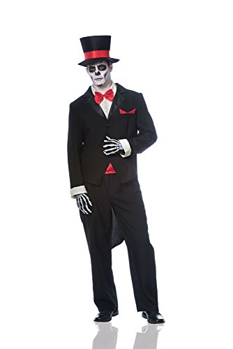 Costume Culture Men's Day Of The Dead Dia De Los Muertos Groom Costume, Black, -
