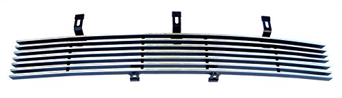 MaxMate Fits 01-03 Ford F-150 Harley Davidson Special Edition Replacement Lower Bumper 1PC Horizontal Billet Polished Aluminum Grille Grill Insert
