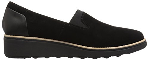 Loafer CLARKS Dolly Sharon Black Suede Women's tqrv7n8pt