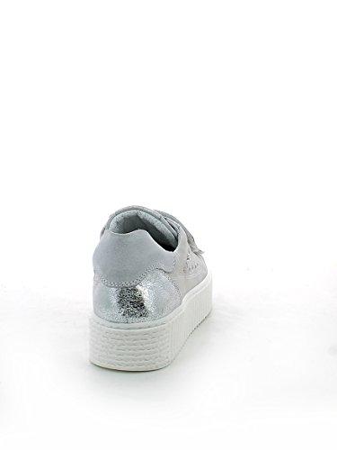 Nero Laminato Sneaker Giardini Argento Strappi in con 37 RqRpUrw
