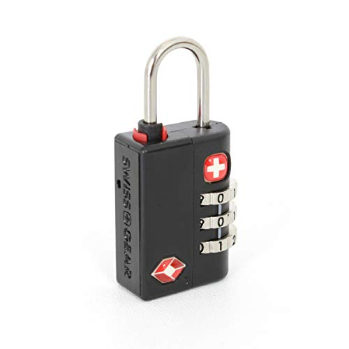 SWISSGEAR TSA-Accepted 3-Dial Combination Lock | Lightweight and Easy Luggage Security - -