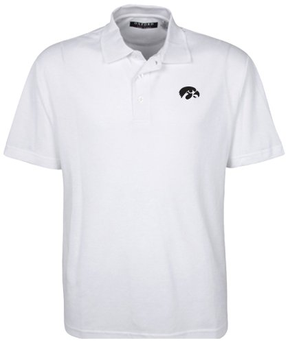 Oxford NCAA Iowa Hawkeyes Men's Classic Pique Polo, X-Large, - Pique Polo Adult Classic