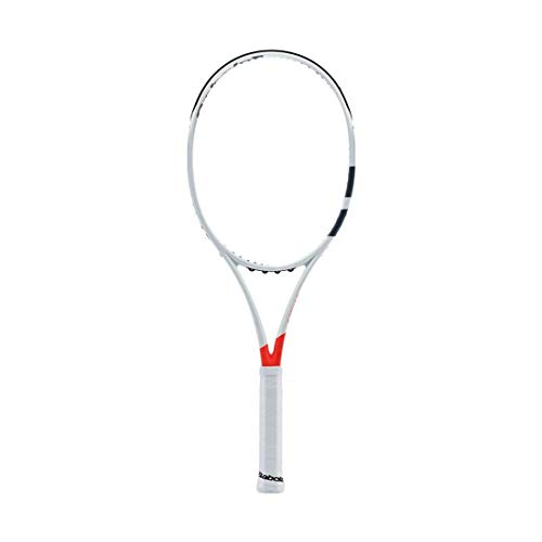 - Babolat 2017 Pure Strike 16x19 Silver/Orange Tennis Racquet (4 3/8