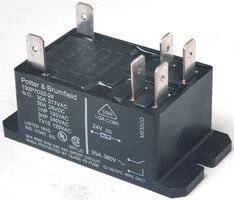TE CONNECTIVITY/POTTER & BRUMFIELD T92P7A22-120 POWER RELAY, DPST-NO, 120VAC, 30A, (Dpst Relay)