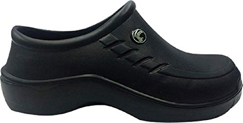 ee3bb0f00dc89 Evacol Unisex Nursing Clogs Ultralite Nurse Shoes unifororm Professional  Work Clogs for Health Care Hospitals and Restaurant (39, Black)