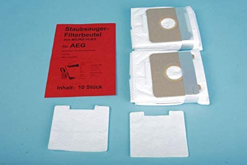 10 bolsas de fieltro para aspiradora AEG Vampyrino repuesto para Swirl A 06: Amazon.es: Hogar