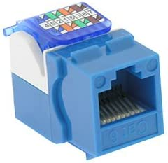 Cat.6 Tool Less Keystone Jack Blue 2 Pack GOWOS