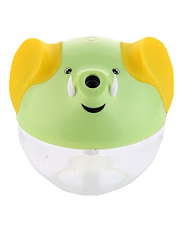Happy-top 230Ml Lucky Elephant Shape Portable Mini Humidifier Night Lamp USB powered Air Humidifier (Green)