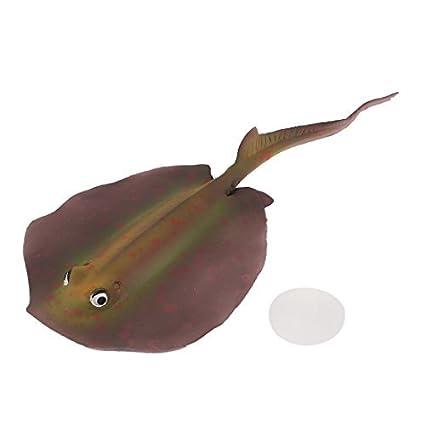 Amazon.com: eDealMax TPR goma acuario Artificial Sting gris del ornamento, DE 19 x 8,5 cm, Marrón/Rojo: Pet Supplies