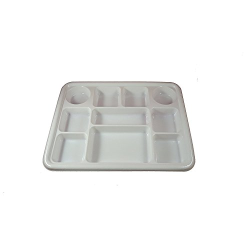 Movie Time Video Party Tray/ Thali/ Plates, 10 compartments, Disposable, 200 Count by Movie Time Video