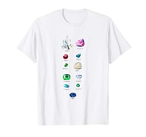 Rock Collecting T-Shirt Gems and Crystals Geology Tee ()