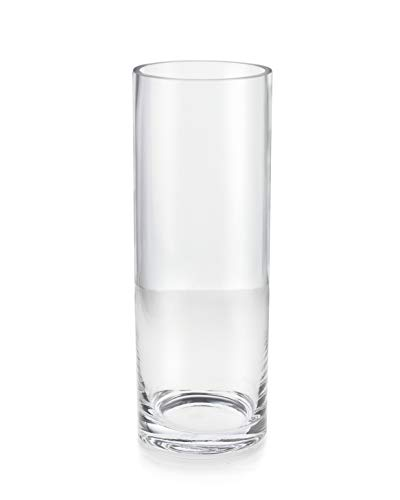 Serene Spaces Living Heavyweight Glass Cylinder for Hurricane Vases - Cylindrical Shape Offers Endless Design Options, 6