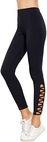 SweatyRocks Womens Cutout Leggings Skinny