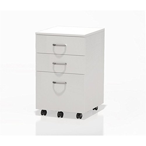 Safco Products SOHO Mobile Desk Box-Box-File Pedestal White