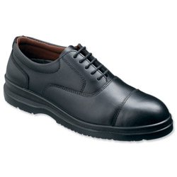 Sterling Steel Oxford Shoes Steel-toe Shock-absorbant Chemical-resist Leather Size 12 Black Ref SS50112 by Sterling Safetywear