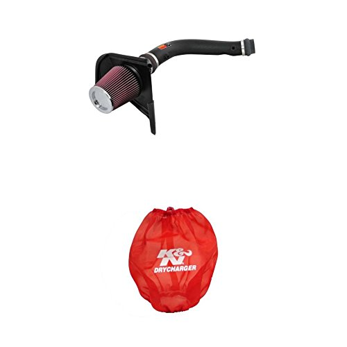 (K&N 57-9016-1 Performance Air Intake System with Red Air Filter Wrap)