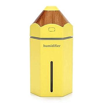 Humificador de Aire con 7 Colores de LED para Coche Yoga SPA Hogar Oficina Libre BPA 230ml Vapor Fr/ío Pixier Humidificador USB Mini