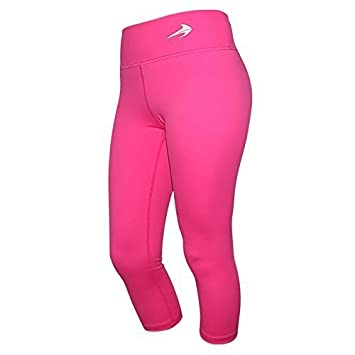 826bad3be9 Compression Capri Pants For Women (Pink - M) 3/4 Length Yoga Running  Workout Exercise Leggings CompressionZ: Amazon.co.uk: Sports & Outdoors