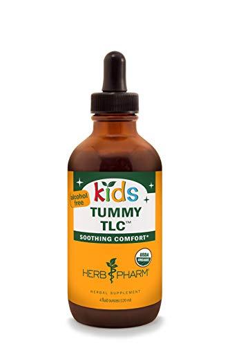 Herb Pharm Kids Certified-Organic Alcohol-Free Tummy TLC Liquid Herbal Formula, 4 Ounce