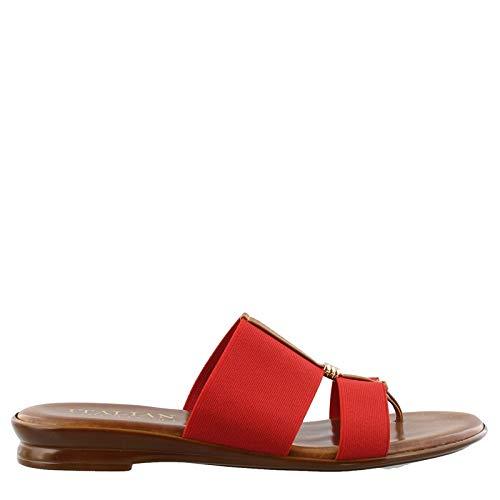 (ITALIAN Shoemakers Women's, Neema Thong Sandals RED 6.5 M)