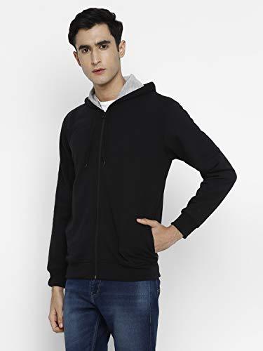 Alan Jones Clothing Men's Poly Cotton Hooded Sweatshirt