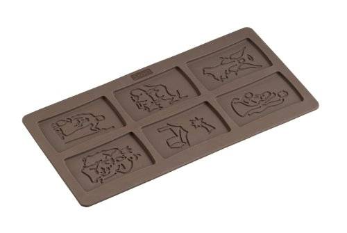 Lurch Germany Flexiform Silicone 5.9 x 11.8 Inch Spekulatius Nativity Cookie Mold, Brown