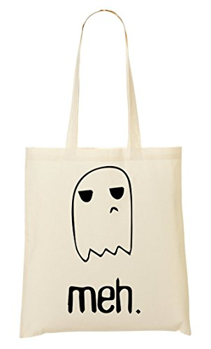 CP Dissappointed Ghost Meh Cute Bolso De Mano Bolsa De La Compra