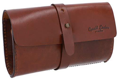 Gusti Leder 'Joop' Handtasche Geldbörse Kartenetui Aufbewahrungstasche Lederetui Clutch Ledertasche Etui Vintage Braun Leder