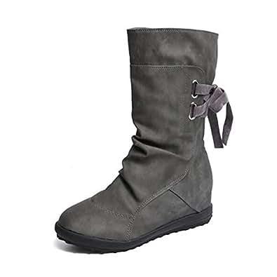 e8c5e7c8f8e Imagen no disponible. Imagen no disponible del. Color: Botines Mujer  Invierno Otoño Motorista Hebilla Botas Planos Tobillo Cuña Calzado Casual  Zapatos ...