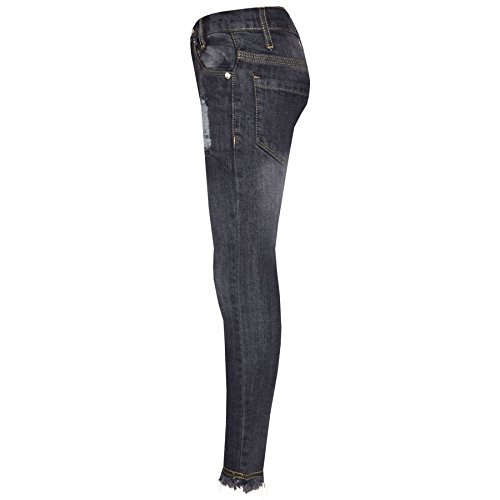 Girls Skinny Jeans Kids Stretchy Denim Ripped Rough Pants Trousers Jeggings 5-13 by A2Z 4 Kids (Image #2)