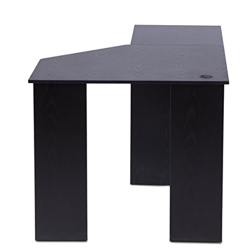 ... Corner Computer Desk With Bookshelves And File Cabinet By DEVAISE  L Shaped Desk In Black ...