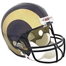 St louis Rams NFL on-field authentic full size helmet (UNSIGNED) Memorabilia Lane & Promotions by Memorabilia Lane & Promotions