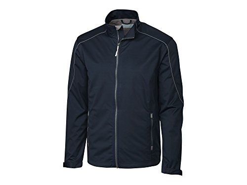 Cutter & Buck Men's Weather Resistant, Midweight Softshell Opening Day Jacket, Navy Blue, X-Large (Best Jackets For Seattle Weather)