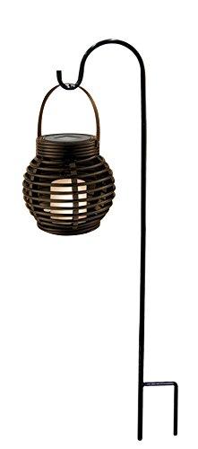Alpine SCC340SLR Solar LED Lantern with Shepard's Hook Me...