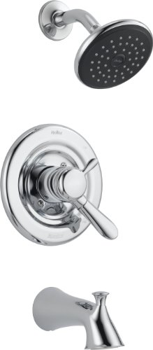 Delta Faucet T17438 Lahara Monitor 17 Series Tub and Shower (Delta Chrome Faucet)