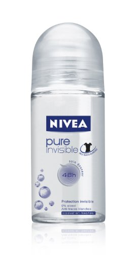 Price comparison product image Nivea Pure Invisible Deodorant Roll-On, 1.7 Fluid Ounce (Pack of 2)